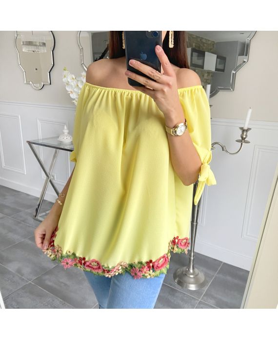 TUNIC BASIC LACE 5534 YELLOW