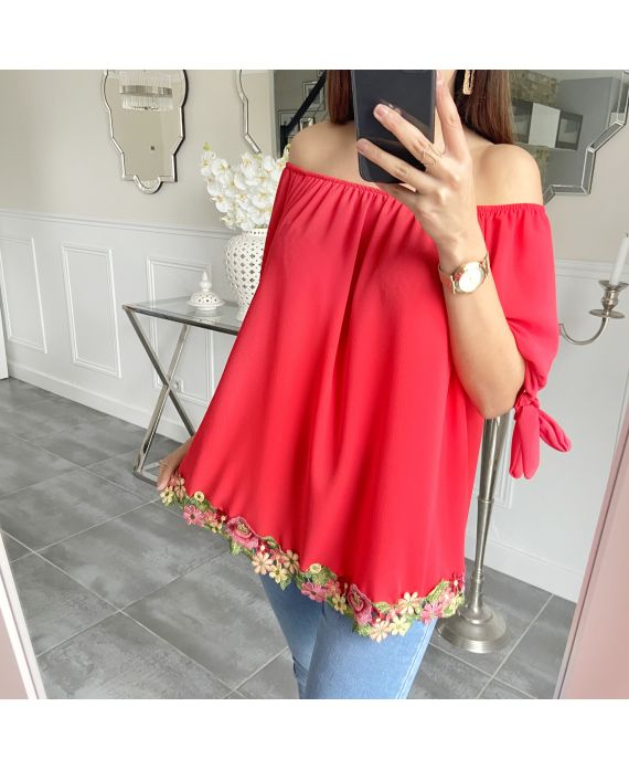 TUNIC BASIC LACE 5534 RED