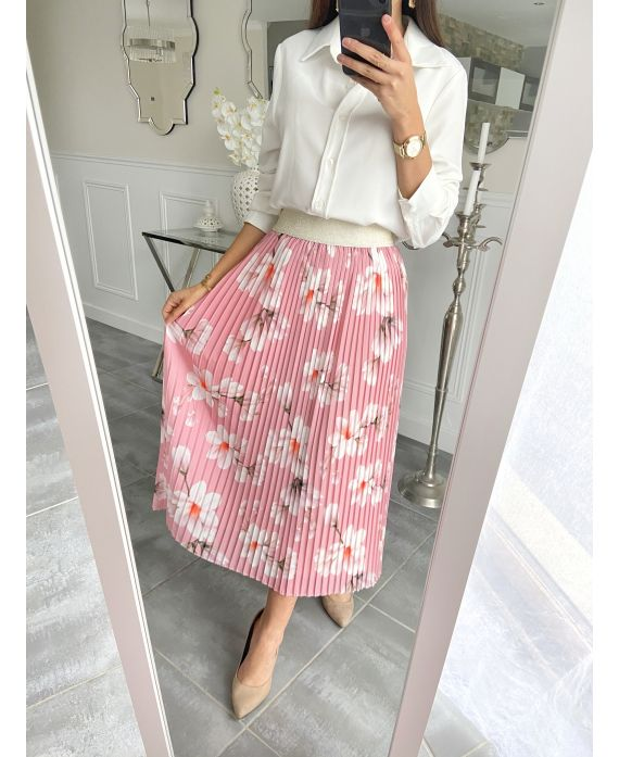 SKIRT MID LONG PLEATS 5506 PINK