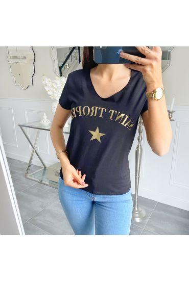 T-SHIRT SAINT TROPEZ 5533 BLACK