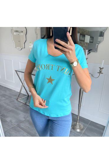 T-SHIRT SAINT TROPEZ 5533 BLUE LAGOON