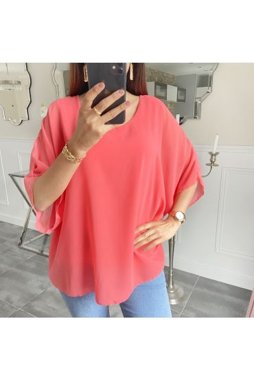 TUNIC OPEN BACK 5489 CORAL