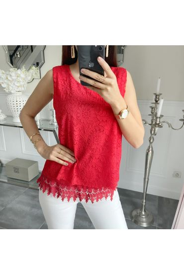 LACE TOP 5536 RED