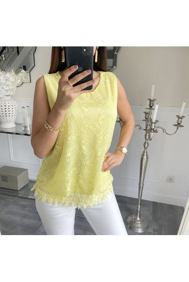 LACE TOP 5536 YELLOW