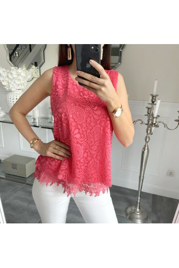 LACE TOP 5536 CORAL