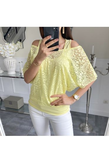 T-SHIRT 2 PIECES 5532 YELLOW