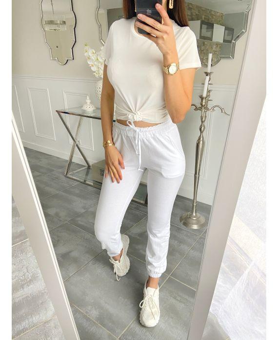 JOGGING PANTS 5516 WHITE