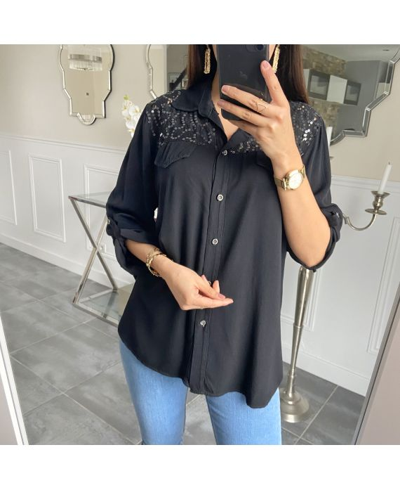 SHIRT LACE 5521-BLACK