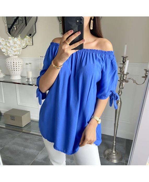 TOP NECKLINE ELASTIQUEE 5517 ROYAL BLUE
