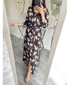 LONG DRESS FLOWER 5507 BLACK