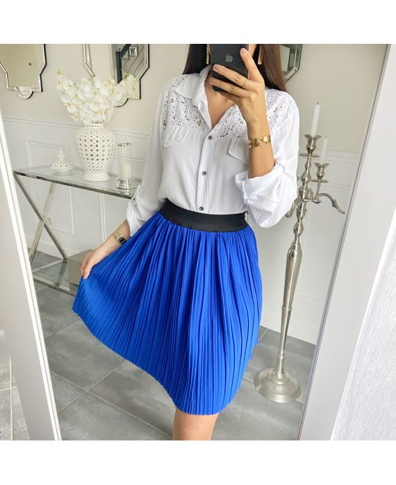 SHORT SKIRT WITH PLEATS 5493 ROYAL BLUE