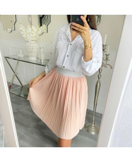 SHORT SKIRT WITH PLEATS 5493 PINK