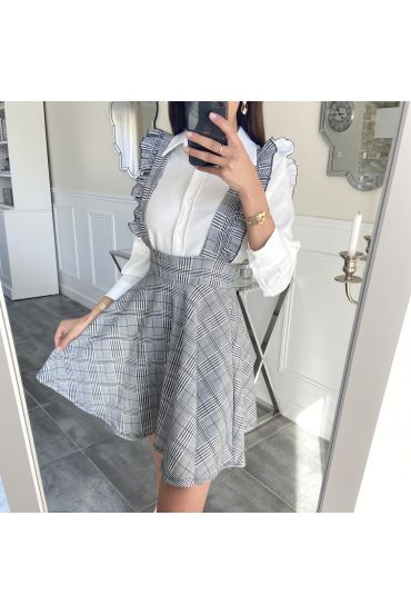 PACK 3 SKIRTS A STRAPLESS PLAID S-M-L 5544 GREY