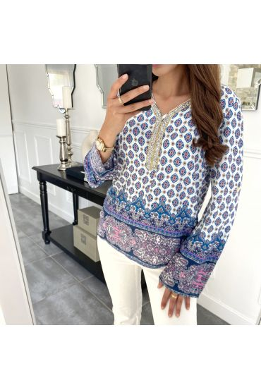 TOP STAMPA STRASS 1081I2