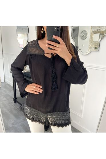 TUNIC LACE 1039 BLACK