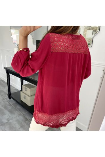 TUNIC LACE 1039 RED