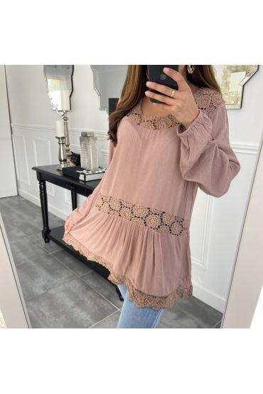 TUNIC LACE TAUPE 1043