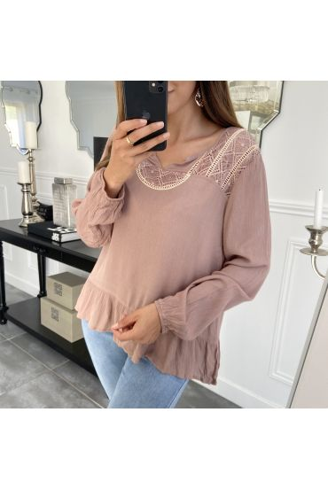 TUNIC LACE 1056 TAUPE