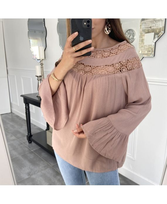 TUNIC LACE TAUPE 1054