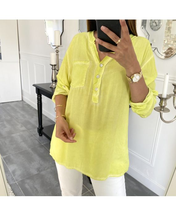 BLOUSE POCKET FLUID 5557 YELLOW FLUO