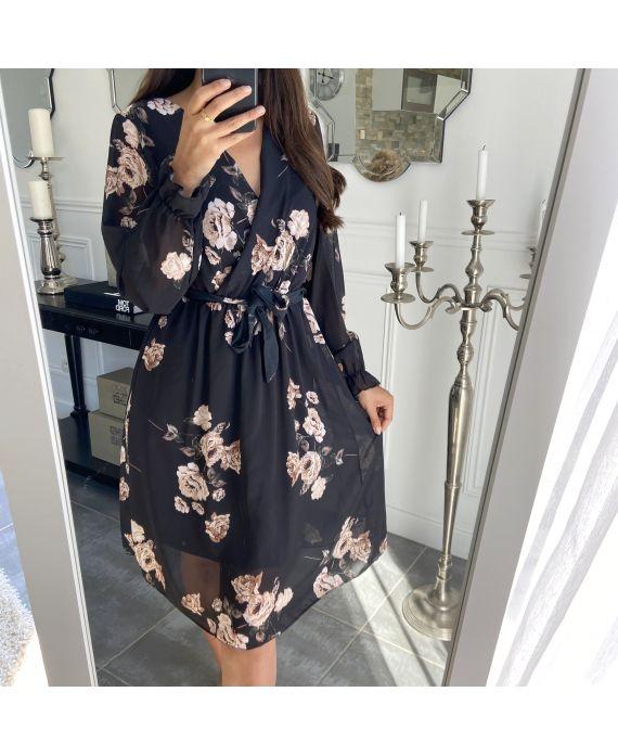 DRESS FLOWERS 7015 BLACK