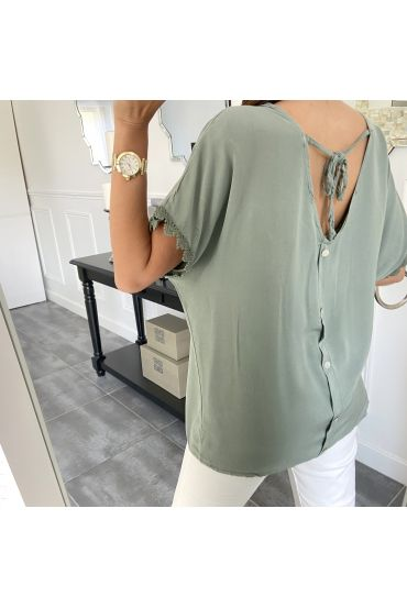 TOP OPEN BACK 5564 MILITARY GREEN