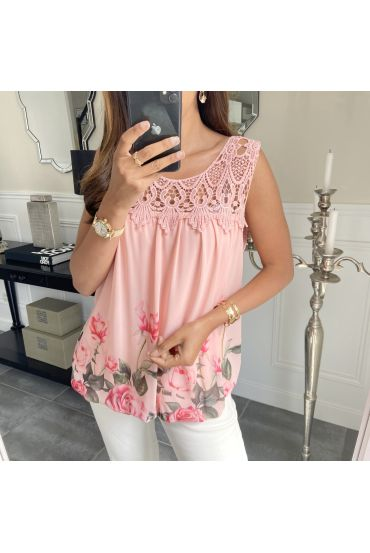 TOP PRINTS LACE 8018 PINK