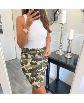 SKIRT PRINTED 8120 MILITARY GREEN