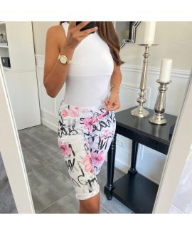 CAPRI PANTS PRINTS 8111 ROSE
