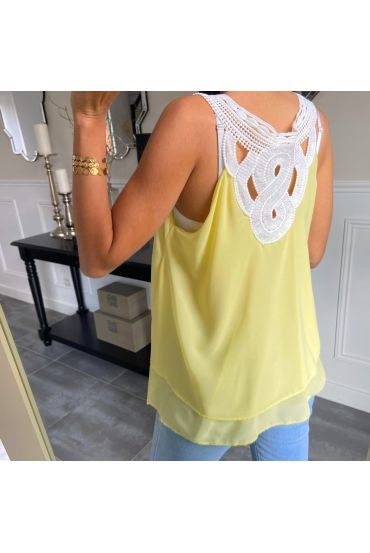 TOP REVERSIBLE LACE 6712 YELLOW