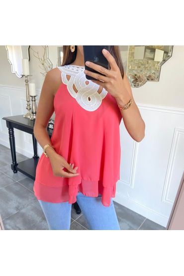 TOP REVERSIBLE LACE 6712 CORAL