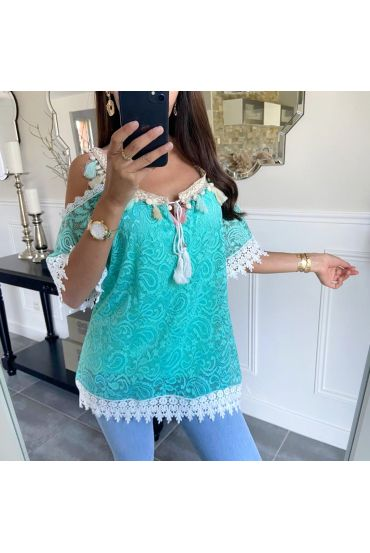 TOP LACE RUSTLE 8841 PASTEL GREEN