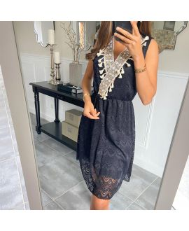 DRESS LACE BOHEME 8847 BLACK