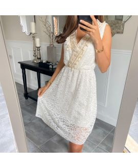DRESS LACE BOHEME 8847 WHITE