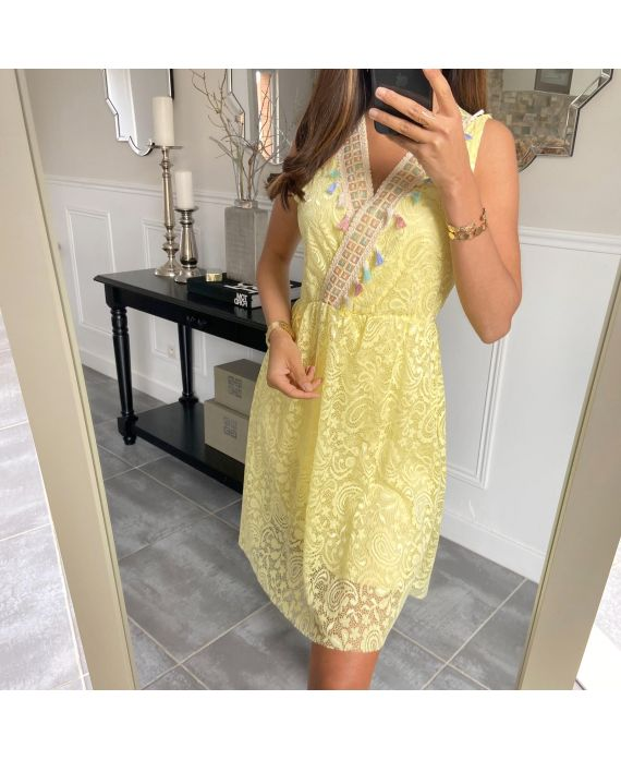 DRESS LACE BOHEME 8847 YELLOW