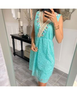 DRESS LACE BOHEME 8847 PASTEL GREEN