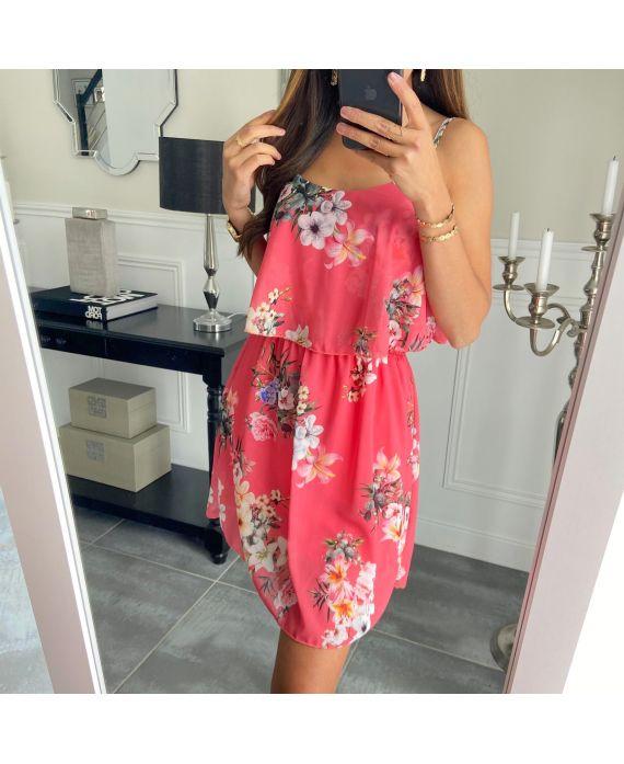 DRESS FLOWER 3008 CORAL