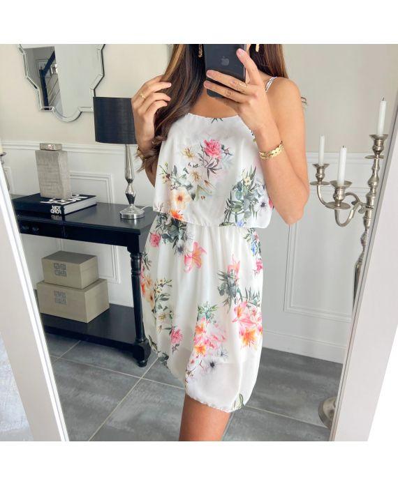DRESS FLOWER 3008 WHITE