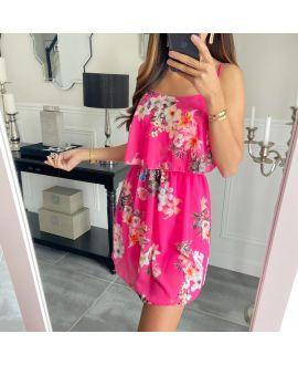 DRESS FLOWER 3008 FUSHIA