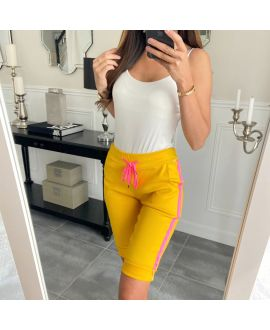 CAPRI PANTS EFFECT TEAR A STRIP 8123 YELLOW