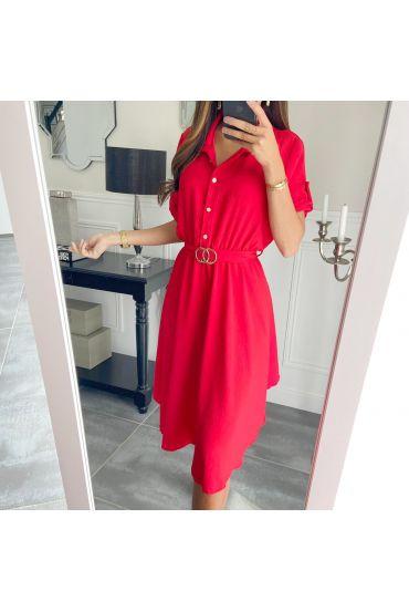 TUNIC DRESS BELT BUCKLE 9467 RED