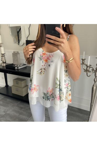 TOP FLOWER 6645 WHITE