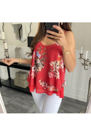 TOP FLOWER 6645 RED