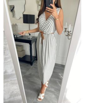 LONG DRESS RAYEE 8898 GREY