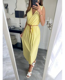 LONG DRESS RAYEE 8898 YELLOW