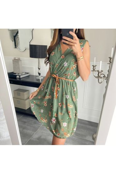 DRESS PRINTS 8920 MILITARY GREEN