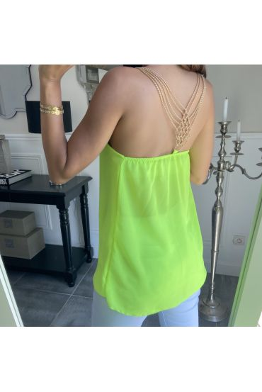 TOP BACK JEWEL 3856 YELLOW FLUO