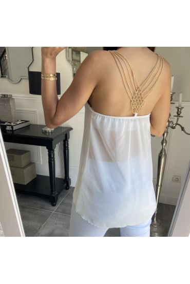TOP BACK JEWEL 3856 WHITE