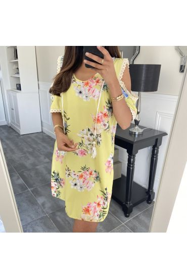 DRESS FLORAL 6730 YELLOW