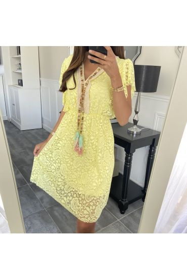 DRESS LACE BOHEME 8839 YELLOW